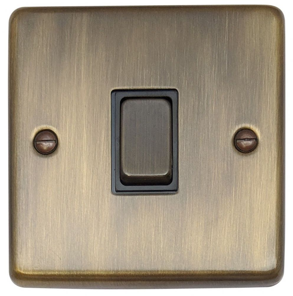G&H CAB301 Standard Plate Antique Bronze 1 Gang 1 or 2 Way Rocker Light Switch